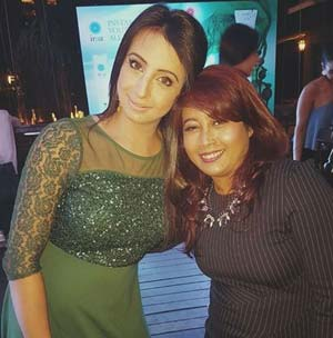 actress sanjana with shoma sarkar