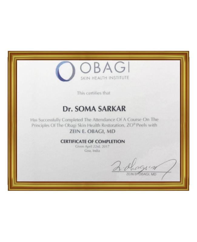 Dr Soma Sarkar Certificate